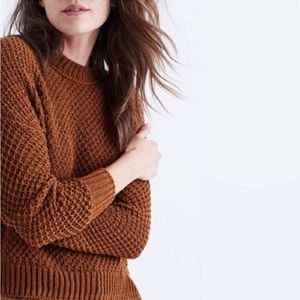 Madewell open knit cotton pullover